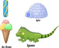 Mim desenhos animados do alfabeto Foto de Stock