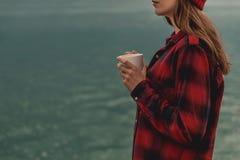 Mim e meu café imagem de stock