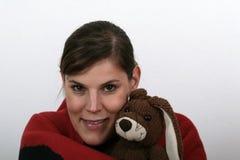 Mim e meu coelho Fotos de Stock Royalty Free