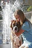 Mim e meu pugilista Imagem de Stock Royalty Free