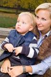 Mim e minha mamã. Fotos de Stock