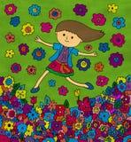 Mim em um campo de flor Fotografia de Stock