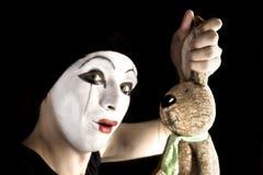 Mim With Rabbit Royalty Free Stock Image