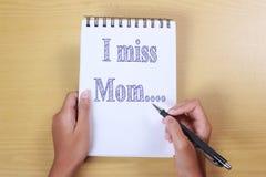 Mim senhorita Mom, conceito do amor de mãe fotografia de stock