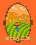 Mim vale do outono do coração Fotografia de Stock Royalty Free