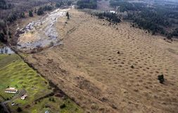 Mima Mounds. The strange land formations known as the Mima Mounds in Washington State. Although accounts vary, most believe the mounds were formed by glacial Stock Images