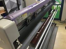 Mimaki平板车切口绘图员 库存照片