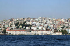 Mimar sinan fine art. A historical university building near to sea in Istanbul Stock Image