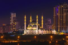 Mimar Sinan Mosque which is placed Atasehir, Istanbul, Turkey. Mimar Sinan Mosque in Atasehir Istanbul Turkey Stock Images