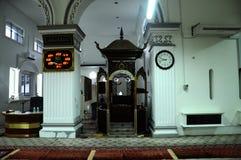 Mimbar av Abidin Mosque i Kuala Terengganu, Malaysia Fotografering för Bildbyråer