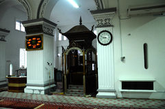 Mimbar av Abidin Mosque i Kuala Terengganu, Malaysia Royaltyfria Foton
