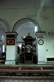 Mimbar av Abidin Mosque i Kuala Terengganu, Malaysia Arkivbild