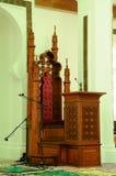 Mimbar de Kuala Lumpur Jamek Mosque en Malaisie Photos libres de droits