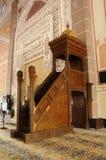 Mimbar de la mezquita de Putra en Putrajaya, Malasia fotografía de archivo libre de regalías