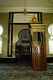 Mimbar de la mezquita de Ubudiah en Kuala Kangsar, Perak, Malasia Fotos de archivo libres de regalías