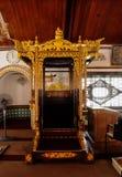 Mimbar de la mosquée ou du Masjid Tengkera de Tranquerah Image libre de droits