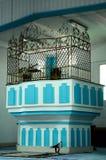 Mimbar de Masjid Jamek Dato Bentara Luar dans Batu Pahat, Johor, Malaisie Images libres de droits