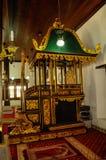 Mimbar de Masjid Kampung Hulu en Malaca, Malasia Foto de archivo libre de regalías