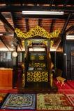 Mimbar de Masjid Kampung Laut chez Nilam Puri Kelantan, Malaisie Images stock