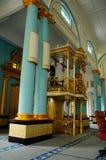 Mimbar de Sultan Ibrahim Jamek Mosque chez Muar, Johor Images stock
