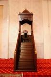Mimbar de Tengku Ampuan Jemaah Mosque en Selangor, Malasia Fotos de archivo libres de regalías