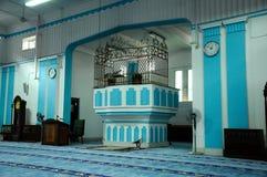 Mimbar of Masjid Jamek Dato Bentara Luar in Batu Pahat, Johor, Malaysia. BATU PAHAT, MALAYSIA – JANUARY, 2014: Masjid Jamek Dato Bentara Luar is a old mosque Stock Images
