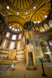 Mimbar and Mihrab in the Hagia Sophia Stock Photo