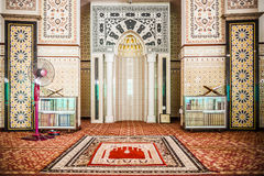 Mimbar. The mimbar of mosque, place for the Imam to lead the prayers Royalty Free Stock Images