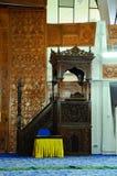 Mimbar of Negeri Sembilan State Mosque in Negeri Sembilan, Malaysia. SEREMBAN, MALAYSIA – FEBRUARY 14, 2014:  Negeri Sembilan's state mosque. It is located Stock Photo