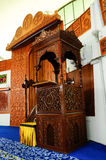 Mimbar of Negeri Sembilan State Mosque in Negeri Sembilan, Malaysia Stock Photos