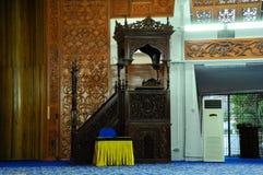 Mimbar of Negeri Sembilan State Mosque in Negeri Sembilan, Malaysia Royalty Free Stock Images