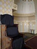Mimbar - pupitre dans la mosquée Photo stock
