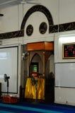 Mimbar sułtanu Mahmud meczet W Kuala Lipis, Pahang Zdjęcia Royalty Free