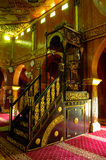 Mimbar of Sultan Ala'eddin Royal Mosque in Banting Stock Photography