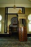 Mimbar van Ubudiah-Moskee in Kuala Kangsar, Perak, Maleisië Royalty-vrije Stock Foto's