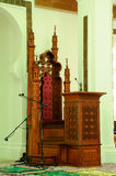 Mimbar von Kuala Lumpur Jamek Mosque in Malaysia Lizenzfreie Stockfotos