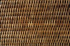 Mimbre de bambú laqueado artículo de mimbre de Brown imágenes de archivo libres de regalías