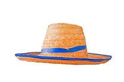 Mimbre del sombrero del granjero Fotografía de archivo libre de regalías