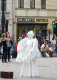 Mime-άγγελος στο τετράγωνο μπροστά από τη Όπερα Στοκ Εικόνα