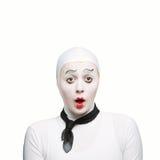 mime έκπληκτος Στοκ Εικόνες