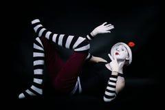 mime λευκό καπέλων πατωμάτων &alpha Στοκ εικόνες με δικαίωμα ελεύθερης χρήσης
