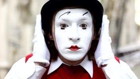 Mime στο Παρίσι απόθεμα βίντεο