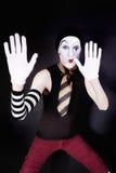 mime предпосылки черный смешной Стоковое Изображение RF