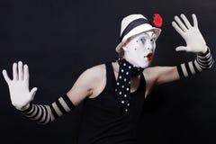 mime шлема цветка белизна смешного красная Стоковое Фото