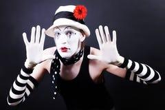 mime шлема цветка белизна смешного красная Стоковые Фото