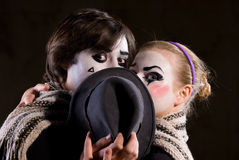 The mime royalty free stock photos