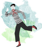 Mime. Traditional French mime in Paris Royalty Free Stock Images
