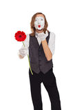 Mime actor with a flower Stock Image