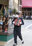 Mime Artist. A mime artist busking on the streets of Asheville, North Carolina Stock Photo