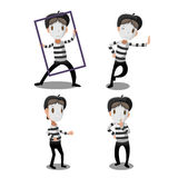 Mime Artist Funny Cartoon Character Vector Royalty Free Stock Images